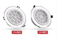 Free shipping 2pcs/lot,15w/18w  LED downlights, energy-saving with excellent heatsink high brightness epistar