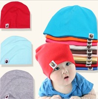 14 Colors Option Pure Color Baby Hat  Cap Infant  Cotton Kid Hats Skull Caps Toddler Boys & Girls Gift Children Hat