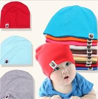 14 Colors Option Pure Color Baby Hat  Cap Infant  Cotton Kid Hats Skull Caps Toddler Boys & Girls Gift Children Hat