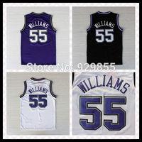 New Rev 30 Embroidery Retro Basketball Jersey Jason Williams #55 Basketball Jersey Free Shipping