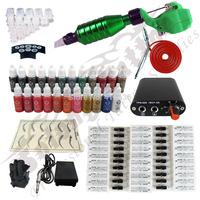 Hawk Rotary Tattoo Machine Hot-sale Gun Kit Permanent Makeup Pen +Power Supply+50 pcs Hawk Tattoo  Needles+Makeup ink TK115-5