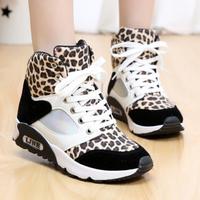 Sexy Leopard women fashion sneakers winter sports shoes girls flat walking shoes high-top sneakers for women