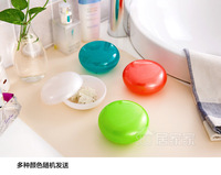 FREE SHIPPING Creative fashion candy-colored waterproof travel soap box soap dish soap box lid