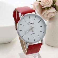 2014 New Brand dalas Leather Strap watch simple Quartz casual watches for men ladies women dress