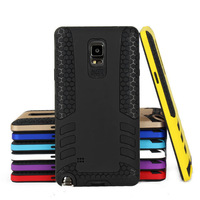 2 in 1 Rubber Armor Hybrid Best Impact Hard Case Cover For Samsung Galaxy Note 4 N9106W N9108V N9109W + Screen protector