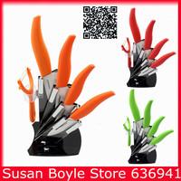 Hot Sale Kitchen Tools Ceramic Knife Sets,Knives 3in/4in/5in/6in + Knife Holder + Peeler