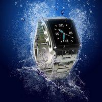 Watch Phone W818 Stainless Steel Waterproof Quad-bands stainless waterproof Bluetooth Wrist watch cellphone