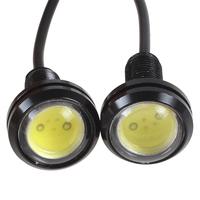 2PCS 9W Ultra-thin Car Eagle Eye LED Day Running Lights & Screw Energy Saving Reverse Lamp