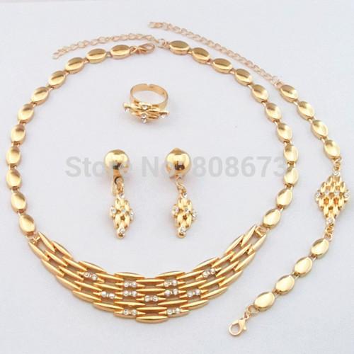 elegan emas penuh perhiasan set jaminan kualitas yang