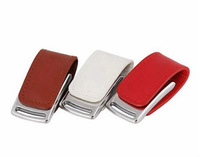 Hot sale   2GB/4GB/8GB/16GB/32GB usb flash drive flash memory stick pendrive  square leather bisiness U Disk