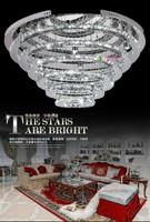 Modern 7 head  circle k9 crystal Ceiling Lights crystal Ceiling Lights Silver Crystal Ring  LED light ring Ceiling Lights