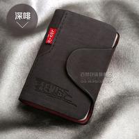 New 2015 women/men genuine leather famous designer brand business bank credit Card holder bag case membership card bag/wallet