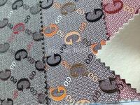 Luxury Faux Leather cloth/ leather rexine/ Fashion copy brand handbag wallet materials  MOQ 1YARD