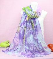 factory outlet! Women female fashion scarf,ladies' flower scarfs,silk copper cash lace scarves/shawls