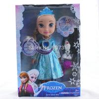 "Frozen Snow Glow Elsa Singing Doll (Light up) Singing ""Let it go"" Frozen Elsa Dolls with Olaf for Christmas Gift DHL 48pcs/lot"