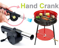 New BBQ Fan Hand Fan Cranked Outdoor Picnic Camping BBQ Barbecue Tool Fan/Blower Barbecue Fire for Camping Outdoor Activities
