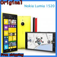 "Original Nokia Lumia 1520 Windows Phone 32GB Quad Core 2.2GHz 2GB RAM 6.0""IPS 20MP NFC GPS WIFI 3G Smartphone"