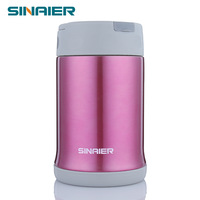 Fashion sinaier roast stew pot stainless steel vacuum thermos bucket insulation boxes pot portable