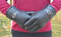 2014 new men's leather gloves, cotton gloves, thick warm winter cycling gloves men riding a motorcycle gloves cold wind
