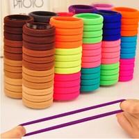 24 Pcs/Box Hotsale Candy colored Elastic Hair ties/ Hair ropes Women Hair accessories