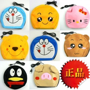 Plush cartoon usb hand po mouse pad winter warm-keeping and usb heating mouse pad(China (Mainland))