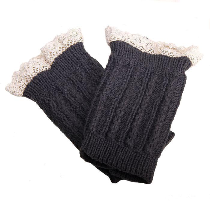 Розничная ladys вязание теплых ботинок кружевные