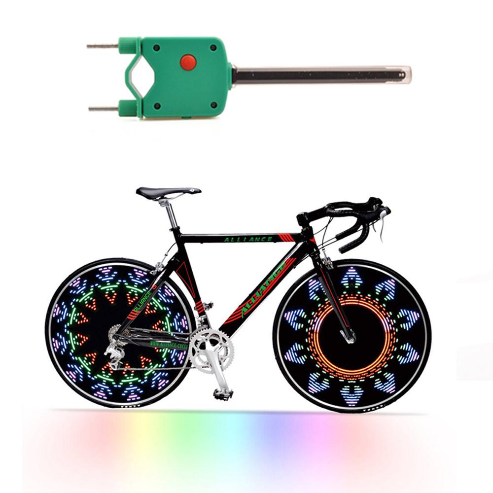 RGB Colorful Cycling Wheel Hub Signal Bicycle Light Lamp 14 LED 45 Pattern Bike Light hot bicicleta bike accessories(China (Mainland))