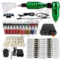 Hawk Rotary Tattoo Machine Hot-sale Gun Kit Permanent Makeup Pen +Power Supply+50 pcs Hawk Tattoo  Needles+Makeup ink TK112-4