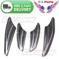 for 08-14 Mitsubishi Lancer EX EVO X 10 Real Carbon Fiber Front Bumper Canards Splitters