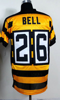 Free Shipping!#26 Le'Veon Bell #88 Lynn Swann #53 Maurkice Pouncey 80th Season Anniversary yellow(black) jersey