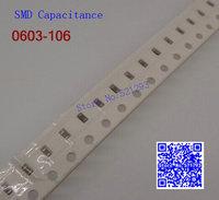 0603 106 10UF +/-20% 0603 SMD capacitance / SMD capacitors 100PCS/LOT