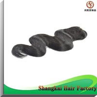 One Piece Brazilian Virgin Hair Body Wave 10--30inch 100g/pcs Shangkai Human Hair Weft Free Shipping