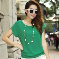 New Fashion Summer 2014 Lace Chiffon Women Blouses & Shirts Sheer Blouse  Woman Lace Hollow Out Shoulder  Blouse 521