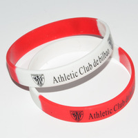 athletic club bilbao kids football souvenirs Healthy natural silicone bracelet Gifts football kids football athletic bilbao