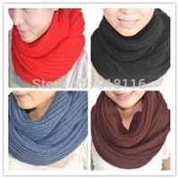 women Autumn Winter Warm Knit Scarf Long Scarfs Hand-knitted Scarves bib    1033