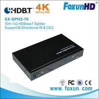 70M 1X2  HDBaseT splitter with 4K2K