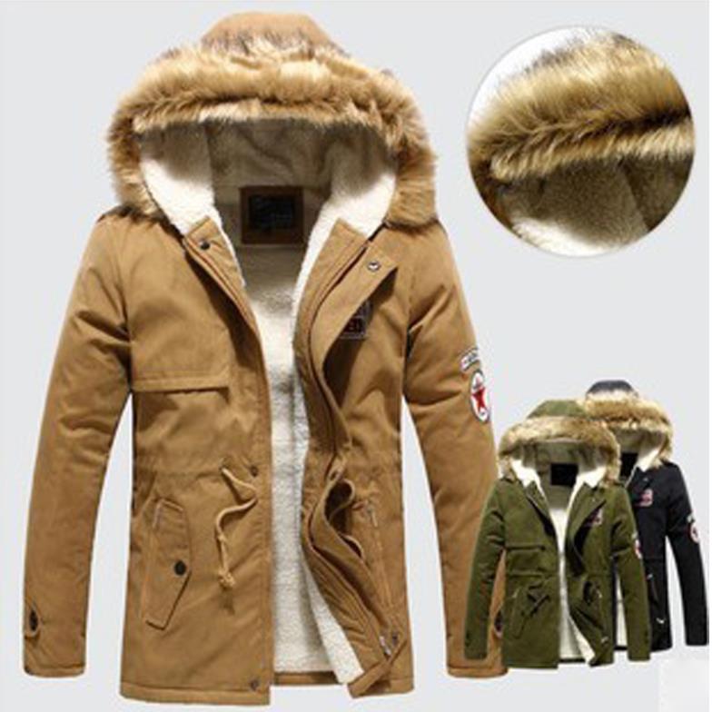 2015 New Winter Mens Long Cotton Casual Jacket Hooded Coat Korean Style Fashion Men'S Warm Jackets Parkas Overcoat(China (Mainland))