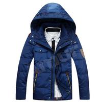 Amur Mens Winter Trench Coat 90%Duck Down Parkas Cotton Jackets Black Navy