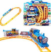 2014 New Year Kids Electric Thomas Train+ Railway Models Free Shipping Kids Toys Juguetes Educativos Child Boys BrinquedosKT0667