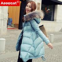 2014 winter   medium-long female thickening  down coat  lady warm clothing  free shipping