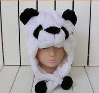 New fashion style  cartoon animal plush hat - black and white panda stuffed animal hat