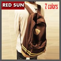 New 2014 Hot Sell Girl Women Backpack 7 colors Cute Pig Nose Student School Bag  Rucksack men's backpacks Canvas travel bags