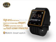 2014 New U Bluetooth Watch U3 For iPhone Samsung Smartphone Sports Wristwatch with Remote Camera Function