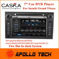 7inch Caska Car DVD player for Suzuki Grand Vitara With GPS Satnav Audio & Video System+car mutimedia player+Free map CA106-KS7