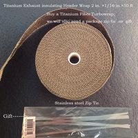 New Weave Heat Resistant Titanium Exhaust Wrap
