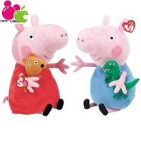 2pcs/lot Peppa Pig George Plush Toys Anime Stuffed Dolls For Girls Boys Kids Christmas Gifts Children Hobby Movies & TV