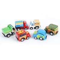 FreeShipping Lot 6pcs Fun Mini Pull Back Car Set Children Pullback Vehicle Toys Colorfu