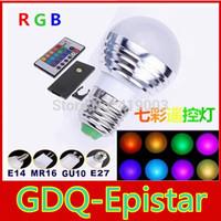 1x 5W RGB led lamp bubble AC85-265V E27 Color Magic 16 Color Changing LED RGB Bulb Light+ IR Wireless Remote Control