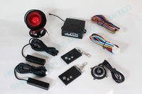 promotional RFID car alarm,smart key car security system, PKE antenna,blue back light push start button HY-904 RM1