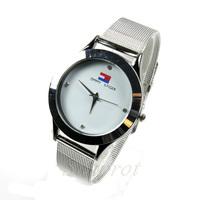 relogio masculino Quartz Watch Stainless Steel Wristband Round Shape Fashion Analog Quartz Eletronic Clock Dress Wrist Watch